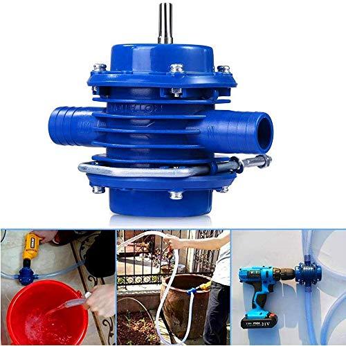 NOBGP Hand Boor Pomp, Multipurpose Heavy Duty Zelf Priming Transfer Pomp, Draagbare Centrifugale Waterpomp voor Elektrische Boor Corrosiebestendige as Gebruikt