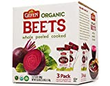 Organic Red Beets whole peeled cooked 3 pack 17.6 oz (3.3 lbs)