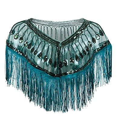 Amazon - Save 50%: L'VOW Women's 1920s Shawl Wraps Roaring 20's Beaded Sequin Cape Frin…