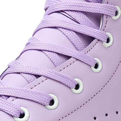 LEK/ÄRO Adult High-Top Roller Skates,PU Leather high-top Roller Skates,Indoor Outdoor Quad Skates,Classic Four-Wheel Double Row Skates,Ladies Professional Double Row Skates