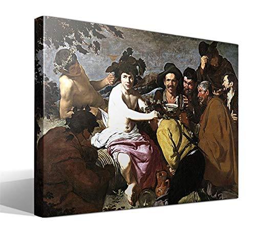 Cuadro Canvas Los borrachos, o El Triunfo de Baco de Diego Rodriguez de Silva y Velazquez