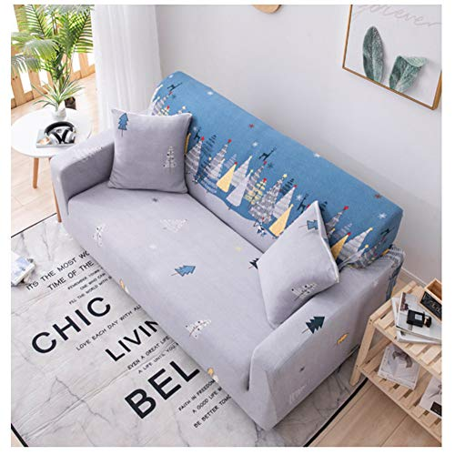 empty zeer elastisch bankstel, meubels, antislip beschermhoes van polyester spandex-stof, hout in cartoon-kleur