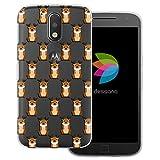 dessana Coque de protection transparente pour Motorola Moto G4 Plus Motif animaux comiques