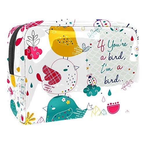 Animal Foxes - Bolsa de cosméticos para mujeres y niñas, 18,5 x 7,5 x 13 cm, espaciosas bolsas de maquillaje de viaje