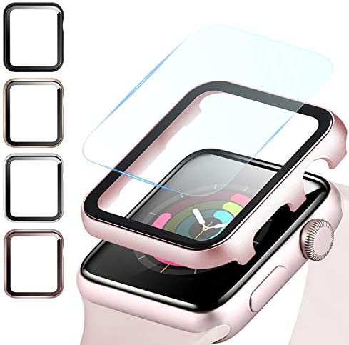 Fohuas Compatible Apple Watch Metal Case with Screen Protector 44mm Impact Resistant HD Clear product image