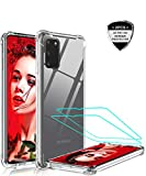 LeYiforSamsung Galaxy J6 2018 Case with Tempered Glass