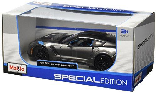 Maisto 1:24 - Special Edition - 2017 Grey Chevrolet Corvette Grand Sport
