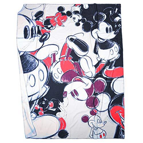 Mickey' Soft Camouflage - Fleece Deken met Vintage Mickey Mouse-motieven van Disney - kwaliteit Deken - 160x200cm - van 'zoeppritz since 1828'