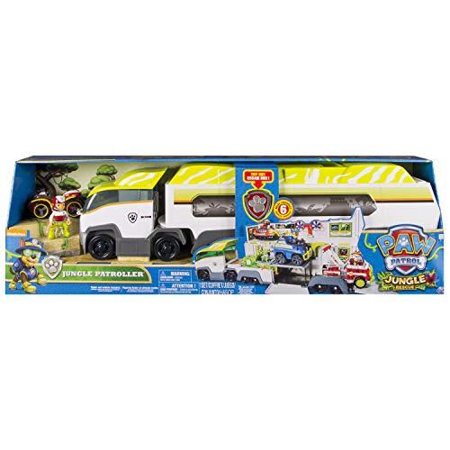 Paw Patrol Jungle Patroller De plástico vehículo de juguete - Vehículos de juguete (De plástico, Gris, Blanco, Amarillo, 3 año(s), Niño, Interior, Batería)