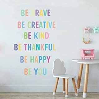TOARTi Colorful Inspirational Lettering Quote Wall...