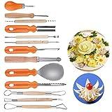 Craftsman168 - Juego de 13 cuchillos para tallar frutas, juego de herramientas para tallar calabazas, juego de herramientas para cortar verduras, sandía, piña, juego de herramientas