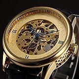 Liandd Série Bleu Mains spéciales Golden Case Die-Casting Montre Hommes Top Marque De Automatique Montre Mécanique Horloge...