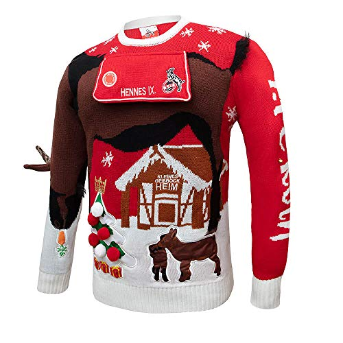Chaps Merchandising GmbH 1. FC Köln Weihnachtspullover Schäbbisch Pulli Hennes IX Gr. 2XL