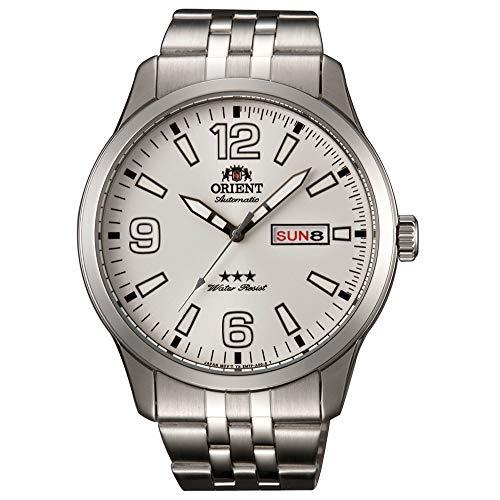 Orient Herren Analog Automatik Uhr mit Edelstahl Armband RA-AB0008S19B