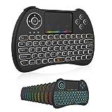 Mini Wireless Keyboard,H9 Mini Keyboard with Touchpad,Colorful Backlit Wireless Mini Keyboard,Mini Rechargeable Handheld...