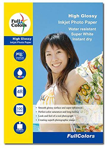 Full Colors 210 GSM 4R (4 x 6) Photo Paper High Glossy