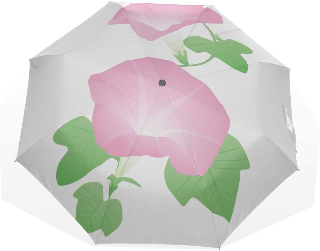 Portable Rain Free shipping anywhere in the nation Umbrella Fragrant Lush 3 Morning Glory Fold Color Popular product