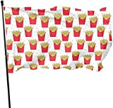 Oaqueen Flagge/Fahne French Fries Decorative Fahnen Flaggen, 3 X 5 Ft Flag for Outdoor Indoor Home Decor