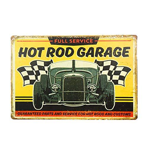 ivAZW Car Plaques Vintage Classic Bar Decor Men Room Wall Stickers Garage Home Decorative Poster Metal Tin Sign 20x30cm 5