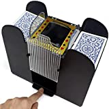 Nuolate2019 Automatic Card Shuffler Electric Poker Cards Dispenser Shuffling Machine for Home Party