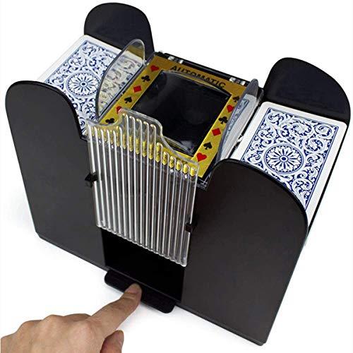 Haokaini Professioneller Automatischer Kartenmischer 6 Decks Elektrische Kartenmischmaschine Schnell Batteriebetriebener Kartenmischer Tragbarer Casino Poker Kartenmischer