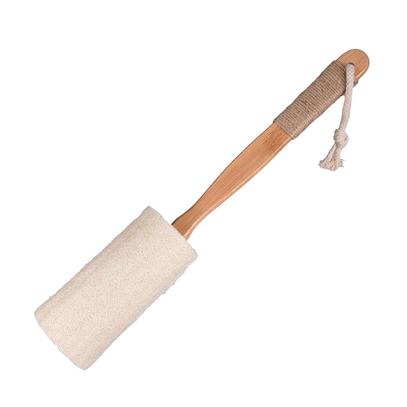 戸棚著名なキャベツYardwe バスボディーブラシエクスフォリエイティングルーファスポンジボディマッサージ(アンチスキッドロング竹製ハンドル付き)