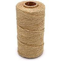 1 Rollo 328 pies Natural Yute Twine mejor Arts Crafts - Cordel de Yute Industrial de embalaje Materiales resistente cadena para jardinería aplicaciones