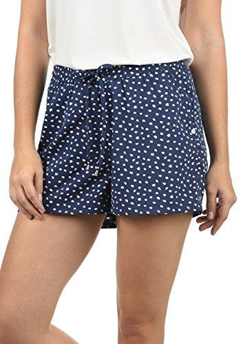 BlendShe Amal Damen Chino Shorts Bermuda Kurze Hose Mit Print Und Kordel Loose Fit, Größe:M, Farbe:Peacoat dot (14021)