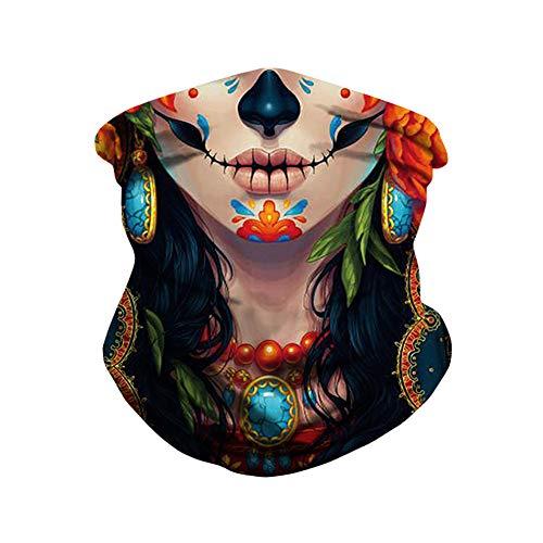 Outdoor sjaal Digitaal printen Multifunctioneel masker beweging Polsband Magische tulband met een kap Winddicht Insect controle Zonnescherm masker