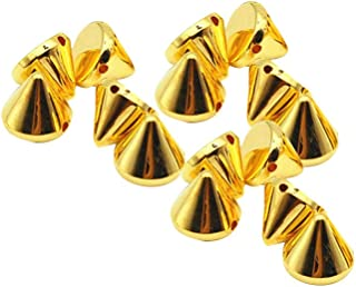 Healifty 100PCS Cone Spikes Bullet Spike Cono Borchie Punk Rivetti Perline per Borse Scarpe Abbellimento Mestiere di DIY (...