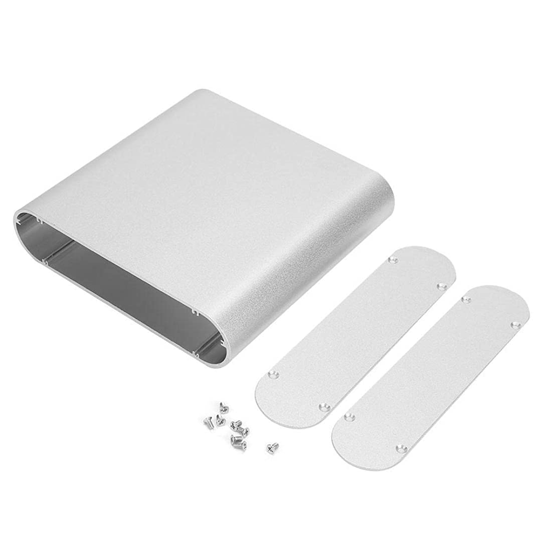 するだろう流す財産プリント基板計器ボックス-電子プロジェクト計器アルミ冷却ボックスラウンドサイドインバータシェルケース40 * 165 * 160mm