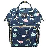 Fanspack Bolso de Hombro de Mamá Bolso de Hombro de Pañal Multiusos de Impresión de Gran Capacidad de Moda