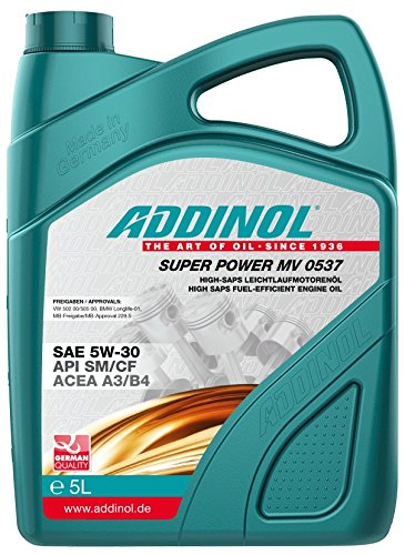 ADDINOL SUPER POWER MV 0537 5W-30 A3/B4 Motorenöl, 5 Liter