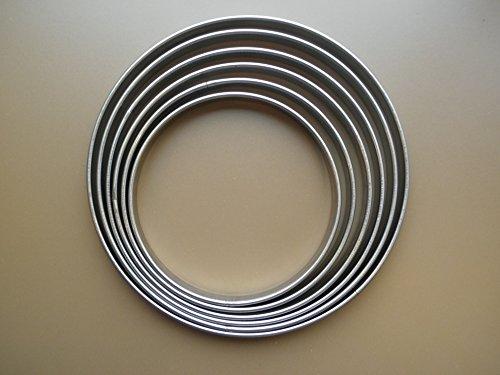 Gobel - 6 Cercles à tarte inox de 18 cm à 28 cm - Cercle à tarte inox