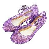 Holibanna Princesa Jelly Shoes para niñas Sandalias para niños Cute Kids Mary Jane Shoes Glitter Wedge para Dance Party Cosplay 18.5cm