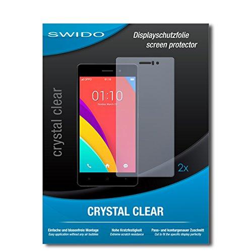 SWIDO Schutzfolie für Oppo R5s [2 Stück] Kristall-Klar, Hoher Festigkeitgrad, Schutz vor Öl, Staub & Kratzer/Glasfolie, Bildschirmschutz, Bildschirmschutzfolie, Panzerglas-Folie