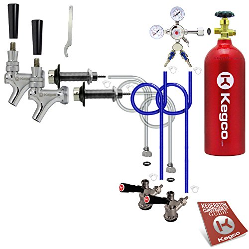 Kegco BF 2SCK-5T Conversion Kit, 2 Faucet with Tank, Standard