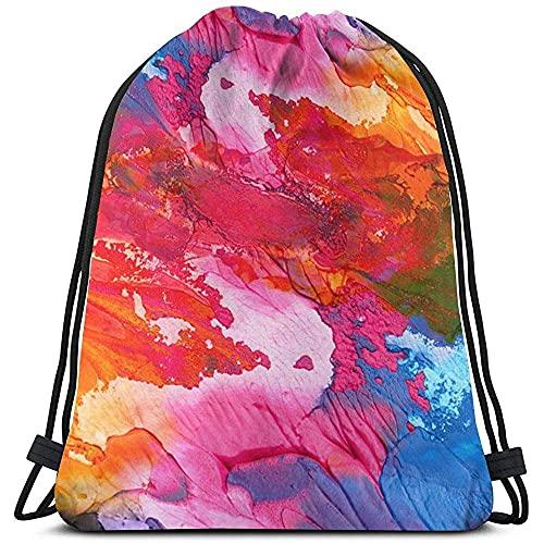 Bolsas de cordón con diseño de arco iris, para picnics y tirar de cuerda, bolsas de almacenamiento de deportes a granel para gimnasio, mochila con
