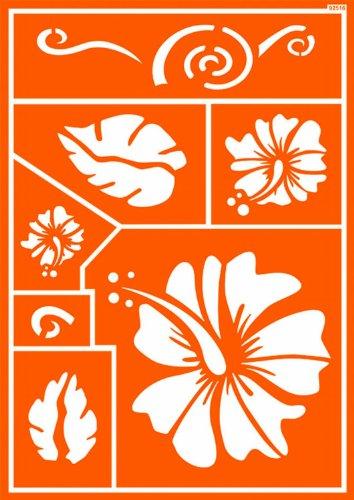 Kreul 92516 - Textil Schablone selbsthaftend Hawaii Flower