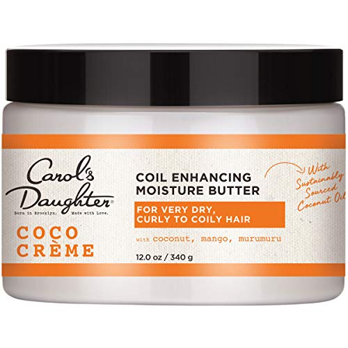 Curly Hair Products by Carol's Daughter, Coco Creme Coil Enhancing Moisture Butter For Very Dry Hair, with Coconut Oil and Mango Butter, Paraben Free and Silicone Free Butter for Curly Hair, 12 Ounce