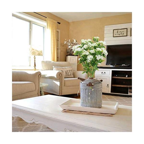 NAHUAA Flores Artificiales Ramo de Flores Flores Falsas Artificiales Gypsophila Exterior e Interior Decoración…