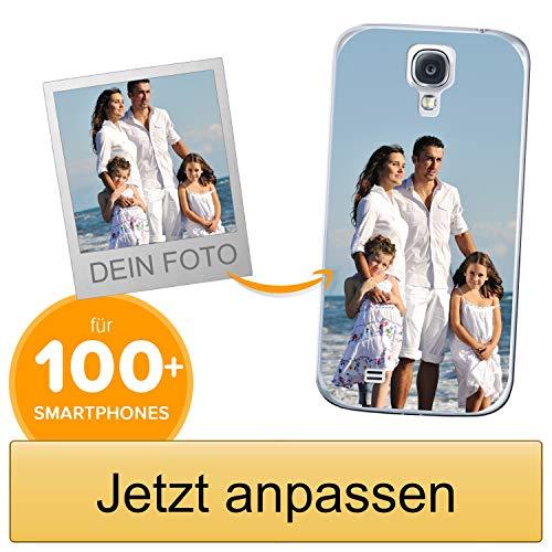 Coverpersonalizzate.it Handyhülle für Samsung Galaxy S4 mit Foto-, Bildern- oder Text selbst gestalten- Die Handyhülle ist aus weichem transparentem TPU-Silikon-Gel Material
