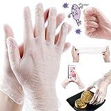 (国内発送、100枚入) 使い捨て手袋 PVCグローブ ビニール手袋 予防対策 防疫防護 業務用 極うす手 薄手 半透明 プラスチック手袋 手荒れしにくい 快適である 粉なし 携帯電話の併用も可能です 家庭 掃除 調理 検品用 (L)