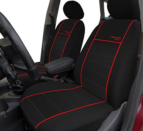 Autositzbezüge, Schonbezüge Trend LINE passend für Dacia Duster - Universal Stoffsitzbezug zum Sonderpreis!!! In diesem Angebot ROT.