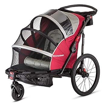Schwinn Joyrider Child Bike Trailer Single and Double Baby Carrier Canopy 20-inch Wheels