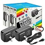 12V DC Power Supply, SANSUN 12 Volt Power Supply for LED Strip Lights, AC120V to DC12V Transformers, 2A 24W Adaptor (Pack of 2)