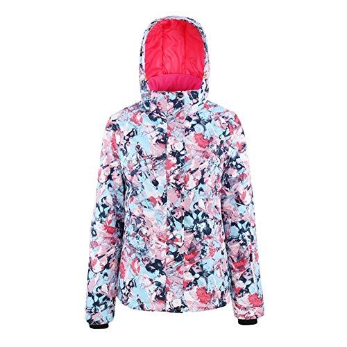 JINHONGH Weiblich Skijacke wasserdichte Jacke Windjacke Warmer Winter Schlittschuh Skibekleidung (Farbe, Size : XL)