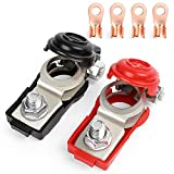 LotFancy 2 Pcs Battery Terminals Compatible with Nissan Altima Maxima Rouge Sentra Murano 243407F000...