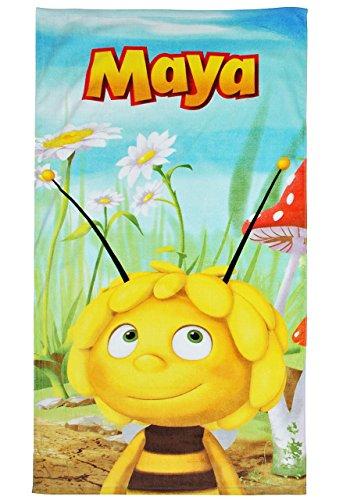 alles-meine.de GmbH Badetuch Biene Maja 70 cm * 140 cm Handtuch Strandtuch Baumwolle - Honig Bienen Tiere Honigbiene Tier