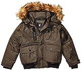 Rocawear Boys' Big Outerwear Jacket, Paprika Bomber Dark Olive, 8